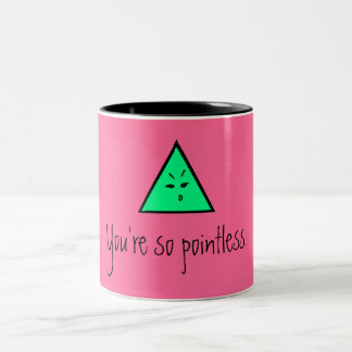 Pointless in Pink. Two-Tone Coffee Mug