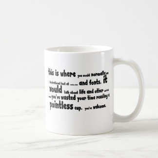 Pointless stuff classic white coffee mug