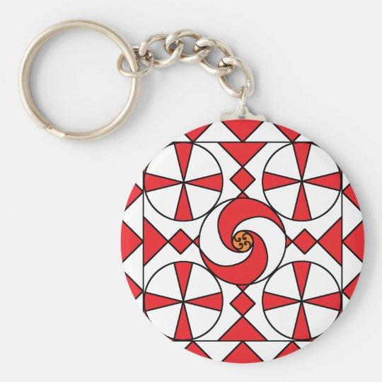 Points and Swirls Keychain