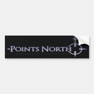Points North Logo Bumper Sticker Car Bumper Sticker