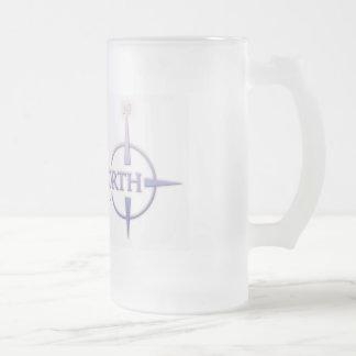 Points North Logo Frosted Beer Mug