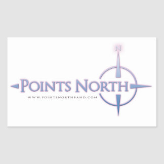 Points North Logo Stickers - White
