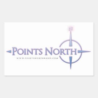 Points North Logo Stickers - White