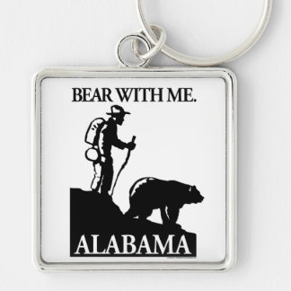 Points North Studio 'Bear With Me' Alabama Keychain