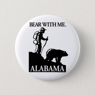 Points North Studio 'Bear With Me' Alabama Pinback Button