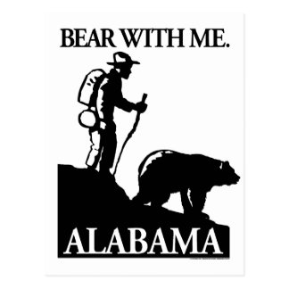 Points North Studio 'Bear With Me' Alabama Postcard