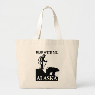Points North Studio 'Bear With Me' Alaska Large Tote Bag