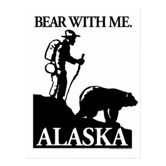 Points North Studio 'Bear With Me' Alaska Postcard