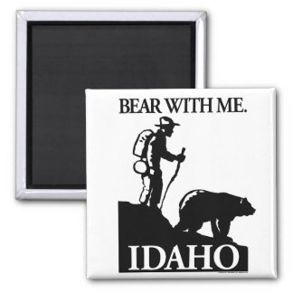 Points North Studio 'Bear With Me' Idaho 2 Inch Square Magnet