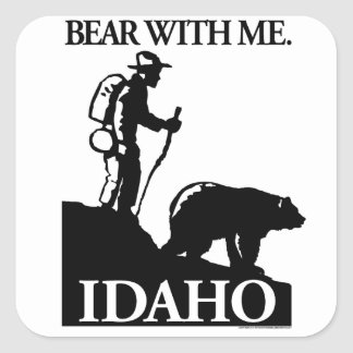 Points North Studio 'Bear With Me' Idaho Square Sticker