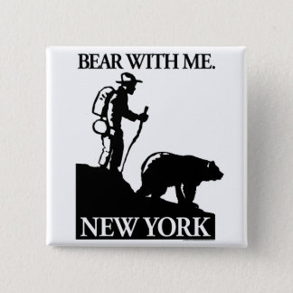 Points North Studio 'Bear With Me' New York Button