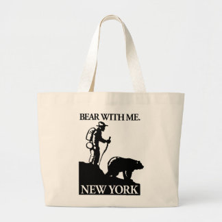 Points North Studio 'Bear With Me' New York Large Tote Bag