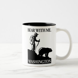 Points North Studio 'Bear With Me' Washington Two-Tone Coffee Mug