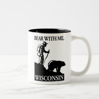 Points North Studio 'Bear With Me' Wisconsin Two-Tone Coffee Mug