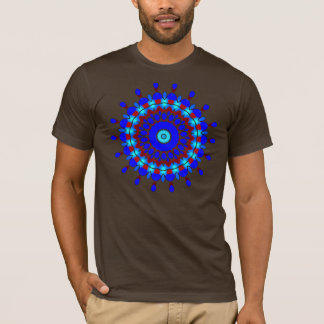 Points of Blue (Blue & Red) Kaleidoscope T-Shirt