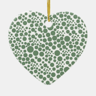points tocan ligeramente herz puntúa pünktchen gir adorno navideño de cerámica en forma de corazón
