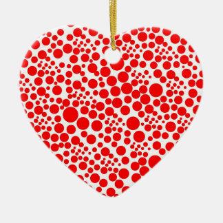 points tocan ligeramente rojo puntúa pünktchen gir adorno navideño de cerámica en forma de corazón