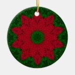 Pointsetta Christmas Tree Ornaments