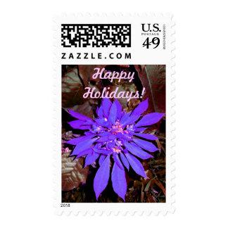 Pointsettia 4 postage stamps