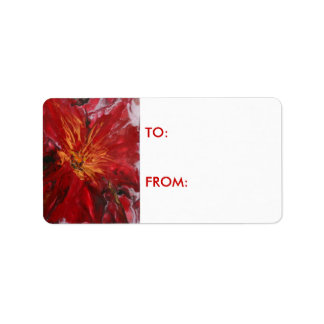 """POINTSETTIA"" gift label"