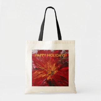 """POINTSETTIA""tote/gift bag"
