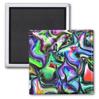 Pointy Abstract Things 2 Inch Square Magnet