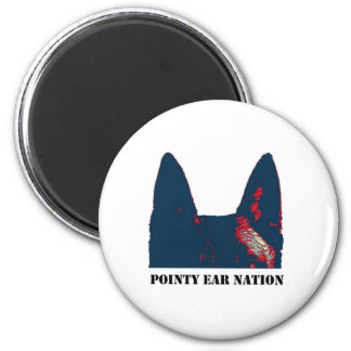 Pointy Ear Nation 2 Inch Round Magnet