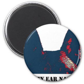 Pointy Ear Nation design 2 Inch Round Magnet