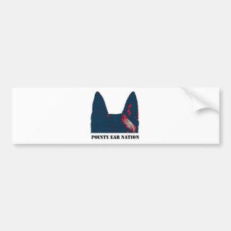 Pointy Ear Nation design Car Bumper Sticker