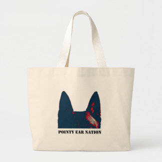 Pointy Ear Nation design Large Tote Bag