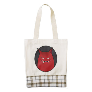 Pointy Ears Red Evil Monster Zazzle HEART Tote Bag