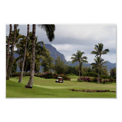 Poipu Bay Golf Course, Kauai, Hawaii Poster