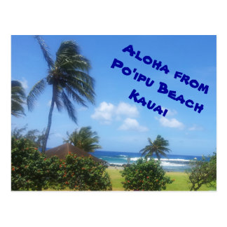 Po'ipu Beach, Kauai, Hawaii Postcards