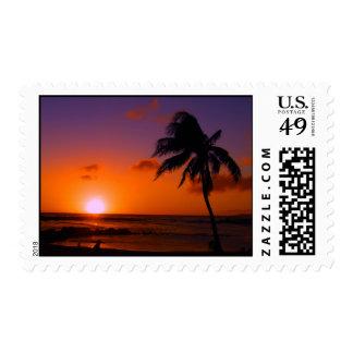 Poipu Beach Sunset - Kauai, Hawaii Postage