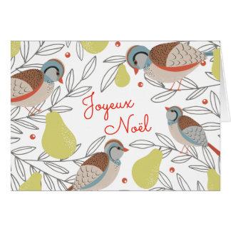 Poirier Carte de Noël Card