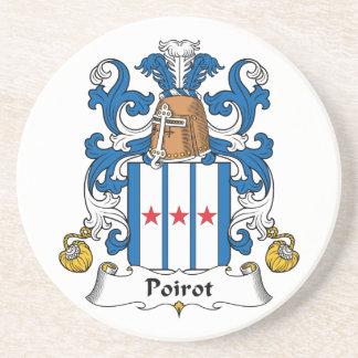 Poirot Family Crest Beverage Coaster