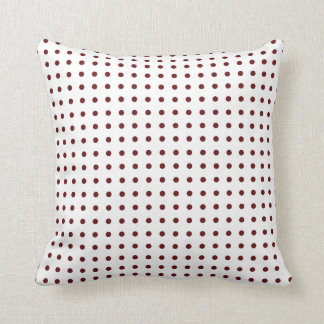 pois marron throw pillow