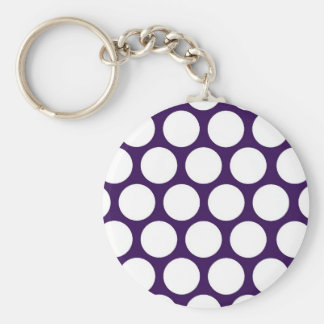 ¡Pois púrpura! Llavero Personalizado