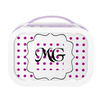 pois violet lunch box