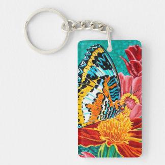 Poised Butterfly I Double-Sided Rectangular Acrylic Keychain