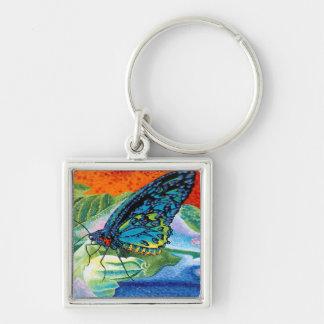 Poised Butterfly II Keychain