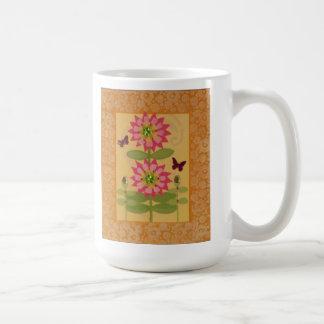 Poised Pink Posies & Butterflies Mug
