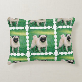 Poised Pug Accent Pillow