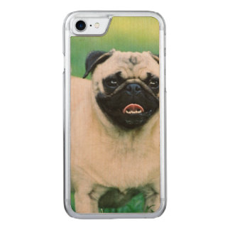 Poised Pug Carved iPhone 7 Case