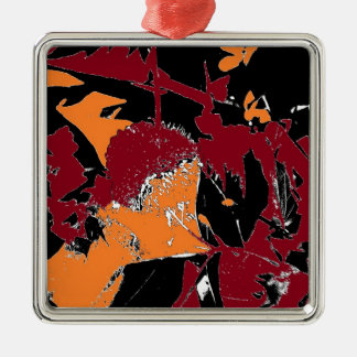 Poison Apple Abstract Square Metal Christmas Ornament