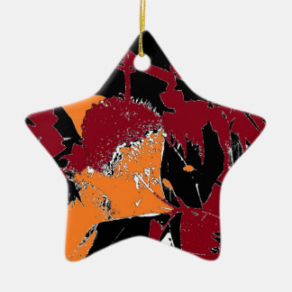 Poison Apple Abstract Double-Sided Star Ceramic Christmas Ornament