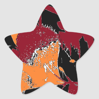 Poison Apple Abstract Star Stickers