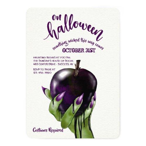 Poison Apple Halloween Invitation