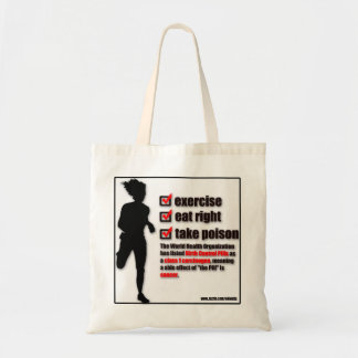 POISON  BIRTH CONTROL PILLS #1 CARCINOGEN TOTE BAG
