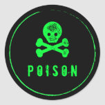 Poison Bottle - Alcohol bottle label for Halloween Classic Round Sticker